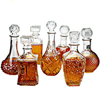 New Arrival Hot Sale Luxury Glass Whiskey Liquor Wine Drinks Decanter Crystal Bottle Wine Carafe Gift