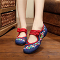 2016 Spring Autumn Woman Shoes Chinese Style Casual Flats For Women Colorful Flower Embroidered Dancing Shoes zapatos mujer