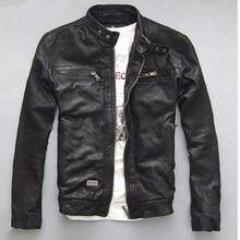 Yolanfairy Демисезонный Для мужчин натуральная кожаная куртка короткий тонкий мотоциклетные куртки для Для мужчин верхняя одежда jaqueta де couro MF030