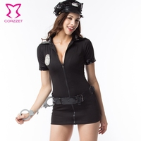 Blue Party Club Adult Costume Plus Size Cosplay Costumes For Women Police Officer Uniform Policewoman Dress