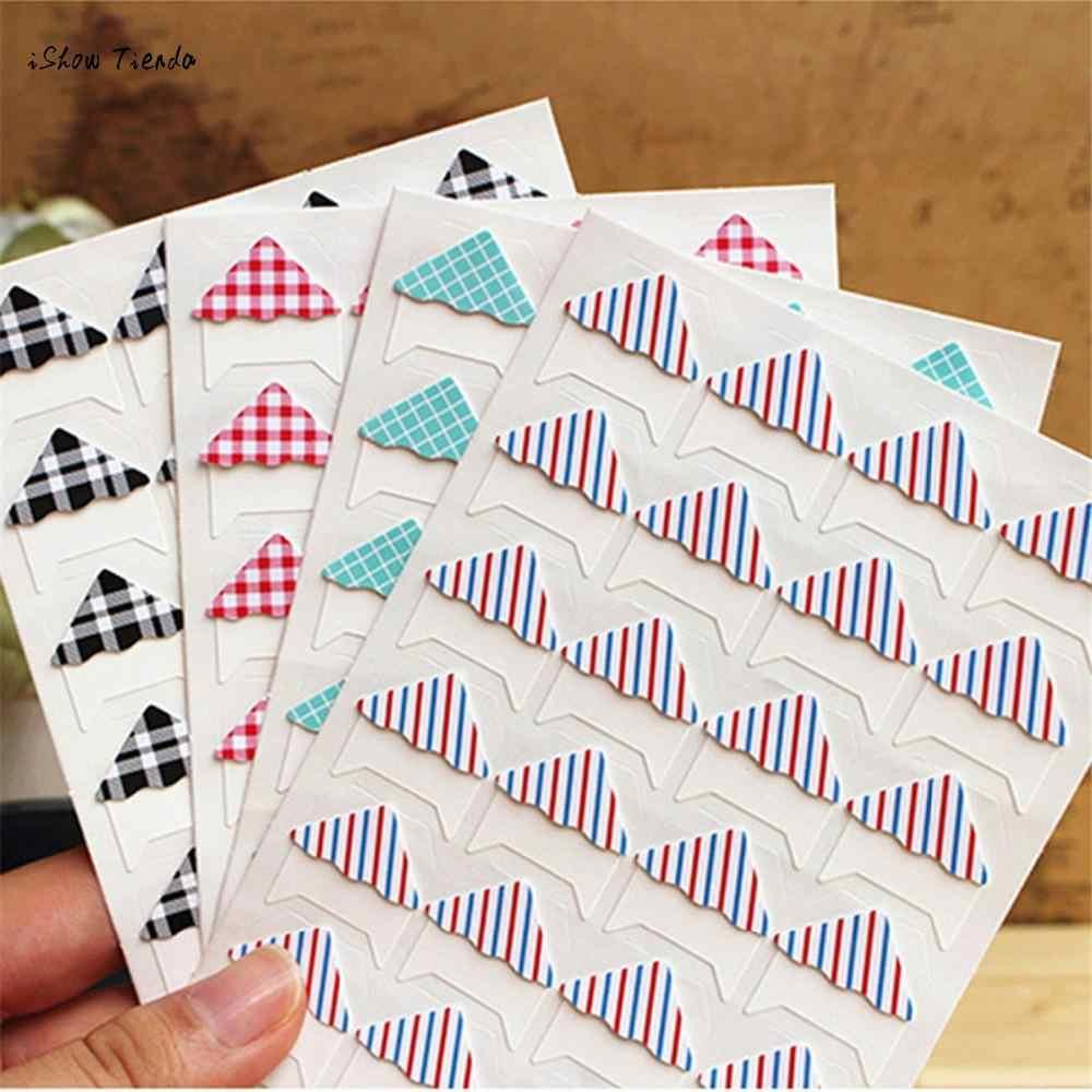ZMHEGW New DIY Cute Strip Corner Kraft Paper Stickers Photo Albums Decoration Scrapbooking Viscose Photo Album Dedicated Fitting