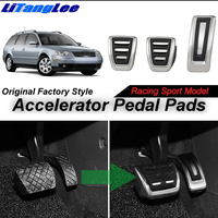 LitangLee Car Accelerator Pedal Pad Cover Sport Racing Foot Pedal Cover For Volkswagen VW Passat B5 B5.5 3B 3BG 1996~2006 MT