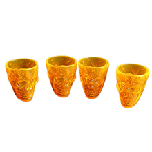 4 Pcs 55ml Creative Classic Plastic Cups 3D Bones Halloween Skull Style Gift Mug Cup Coffee for Decorations New
