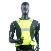 Outdoor Adjustable Reflective Vest Belt Fiber Optics LED Lights Men Women Safety Sports Running Cycling Vest Belts