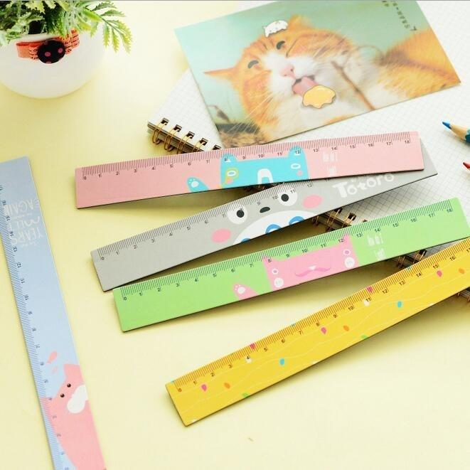1pcs/lot 18cm Bendable Magnet Ruler Measuring Straight Ruler Cartoon Friends Soft Ruler  Zakka DIY Tools Students' Gift Prize