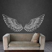Big Wings Angel Deco Wall Poster Tribal Vinyl Memorial Guardian Inspirational Removable Wallpaper Custom W461