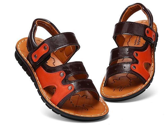450100529ba0 2017 D été Enfant Casual Chaussures Hommes Femmes En Cuir Souple Sandales  Bébé Embout Couvrant