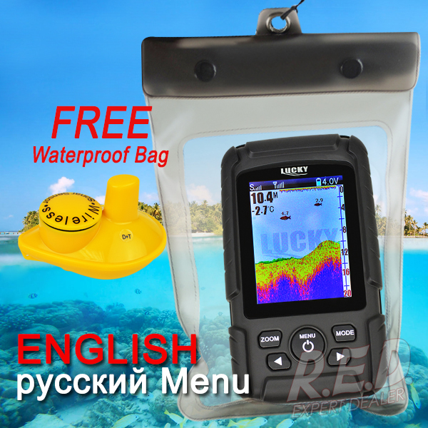 FF718Lic-W LUCKY Color Screen Fish Finder Wireless Fish Finder Rechargeable Battery 100m Operational Range Waterproof эхолот скат два луча lucky ff 718 duo