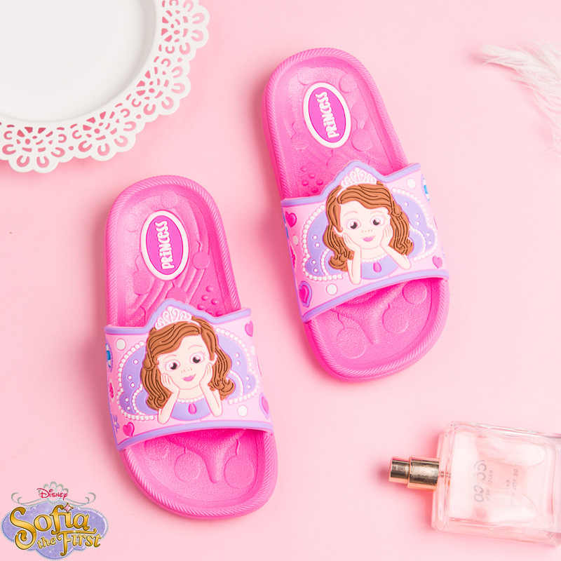 Slippers Cartton Sofia Girls Boy Children Slippers for Swimming Barefoot Shoes Kids Flip Flops Barefoot Shoes Mickey Home Shoes