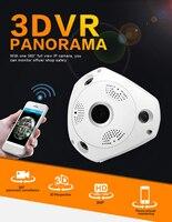 1080P 2MP Panoramic IP VR Camera WiFi Network Fisheye 1.44mm 360 Wi Fi Cameras Wireless Surveillance CCTV Cam support VR BOX