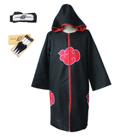 Anime Naruto Cosplay Hoodied Cloak Uniform Forehead Weapon Props Halloween Cosplay Costume