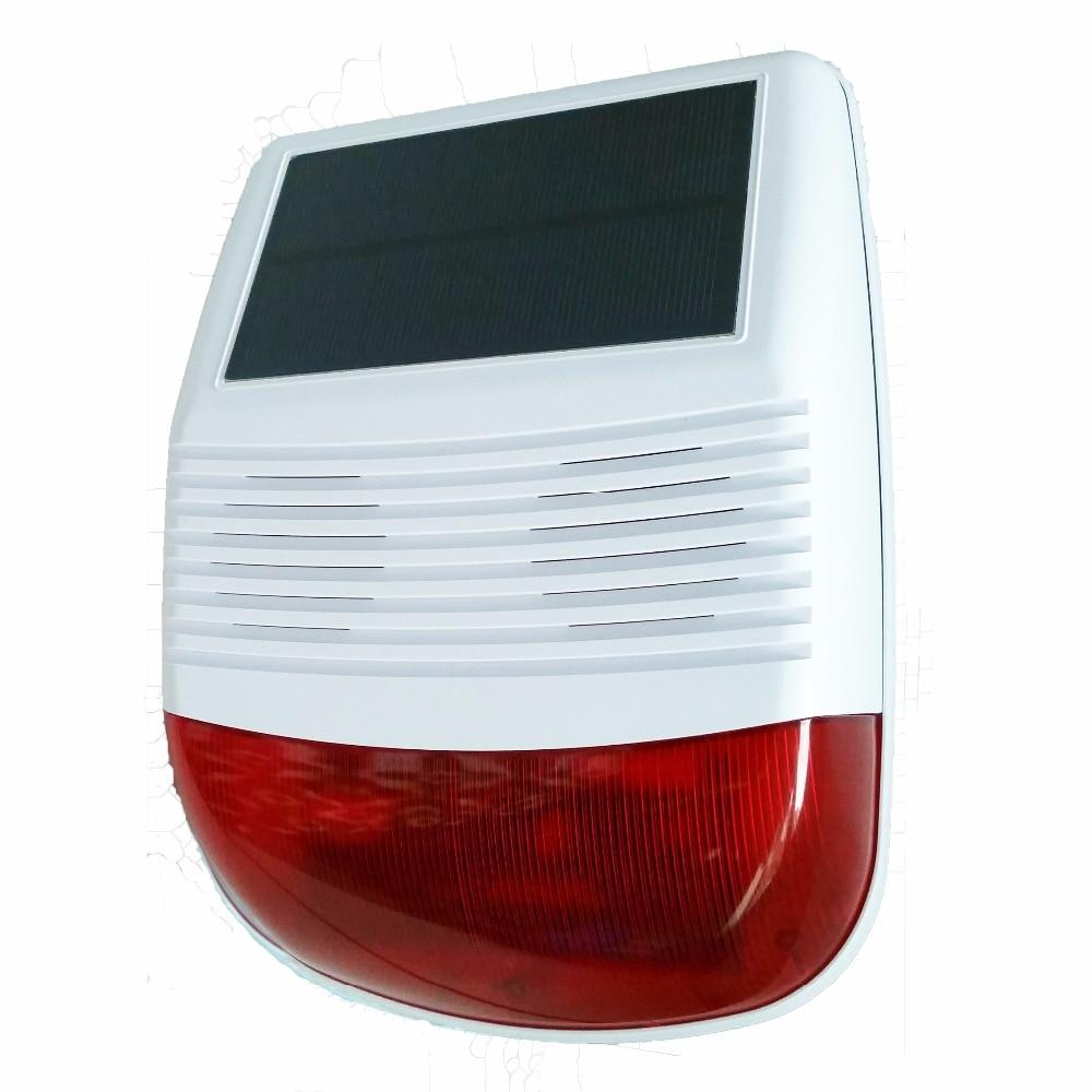 Vente chaude 433 Mhz sans fil en plein air Solaire strobe Siren pour G90B wifi GSM Système d'alarme