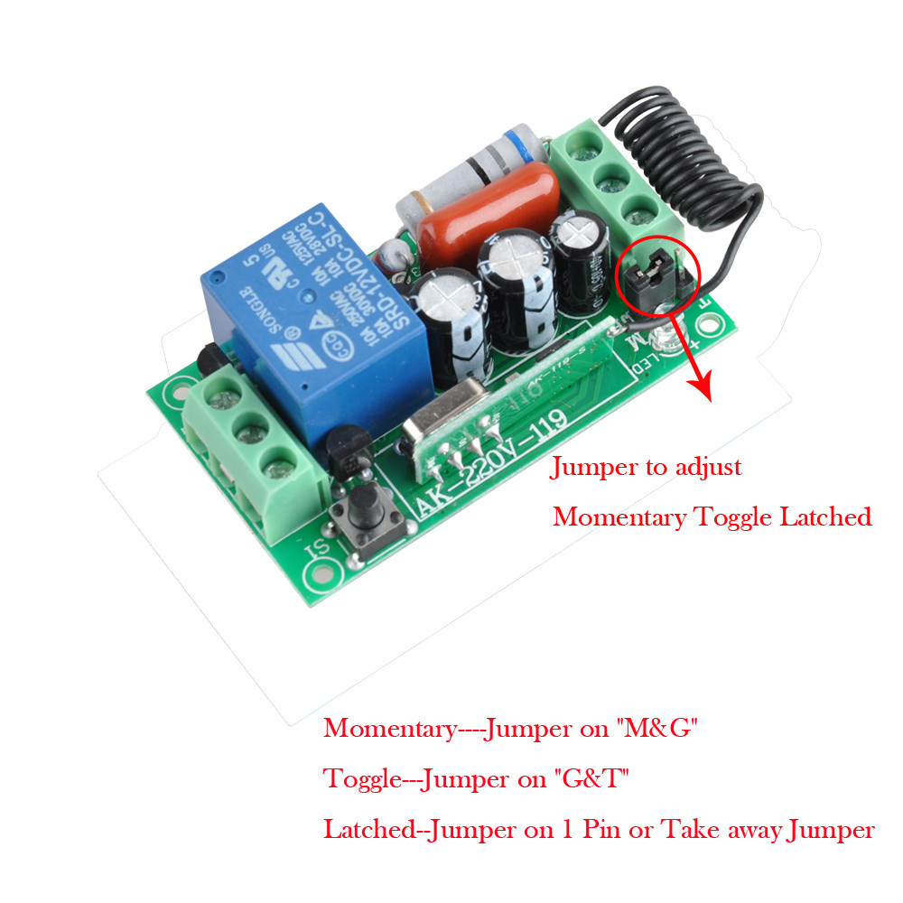 Image 4 - Wireless Remote Control Light Switch 10A Relay Output Radio 220V 1 Channel Receiver Module + 50 500M Transmitter-in Switches from Lights & Lighting