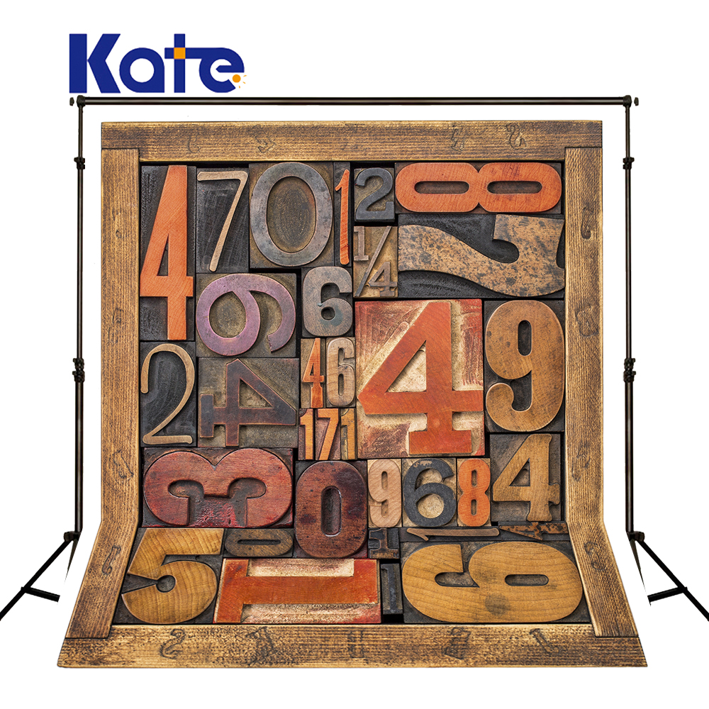 Kate Baby Wood Phptography Background Wooden Numbers Photo Boys Backdrops For Photography Seamless Studio Photo Background сумка kate spade new york wkru2816 kate spade hanna