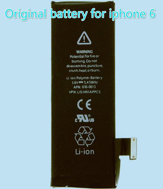 Free Shipping Original 1810mAh Build-in Li-ion Polymer battery repair parts for iphone