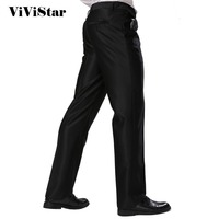 Formal Business Pants Black Skinny Fit Summer New Style Dress Suits Pants Standard Euro Size Silver