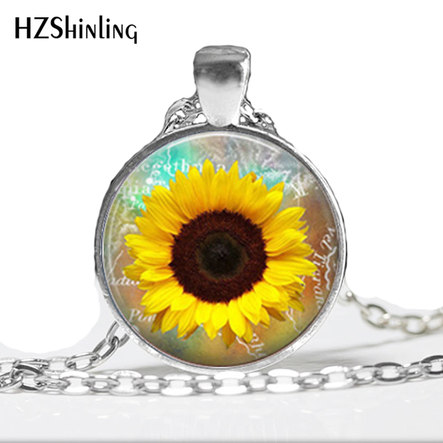 1 pc whosale sunflower necklace yellow sunflower pendant sunflower 1 pc whosale sunflower necklace yellow sunflower pendant sunflower charm jewelry spring jewelry yellow flower hz1 aloadofball Gallery