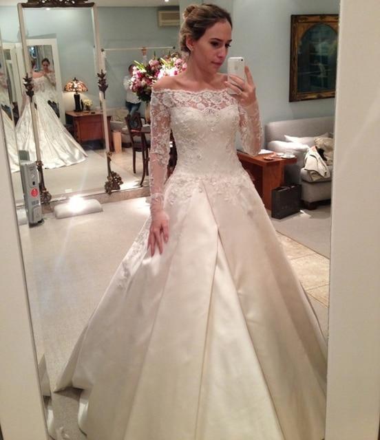 Elegante Spitze Langarm Moslemisches Hochzeitskleid China Off ...