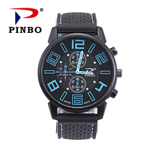 2017 Top Brand outdoor Casual Men's Sports Watches Mens Watches relogio masculino silicone Quartz Watches Men military watch