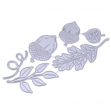 Metal Cutting Dies Stencil for Acorns and Leaves DIY Scrapbooking Photo Album Embossing Paper Cards Decorative Crafts(China)