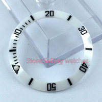 39 8mm White Ceramic Bezel Insert For Sub Watch Made By Parnis Factory