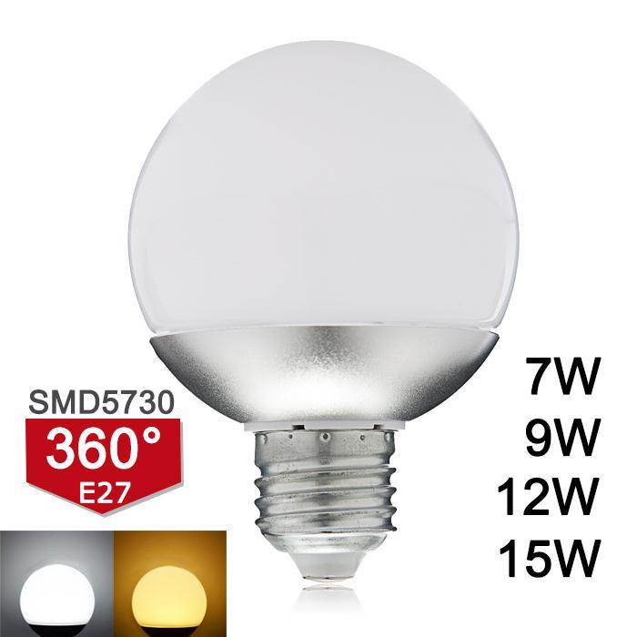 New Arrival E27 LED Lamp Light SMD5730 220V 7W 9W 12W 15W Global LED Bulb 360 Degree Lampada High Luminous A60 A70 A80