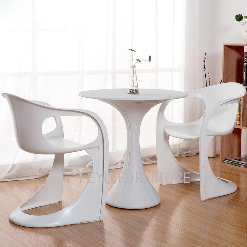 € 163.25 |Diseño minimalista moderno Silla de comedor muebles modernos de  plástico para reuniones cafetería silla moderna para el hogar solo silla  sin ...