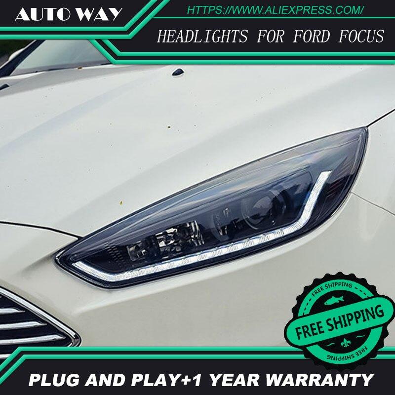 Cas de style de voiture Pour Ford Focus Phares Ford Focus Phares LED lumière bar DRL Q5 bi lentille xénon h7 xenon