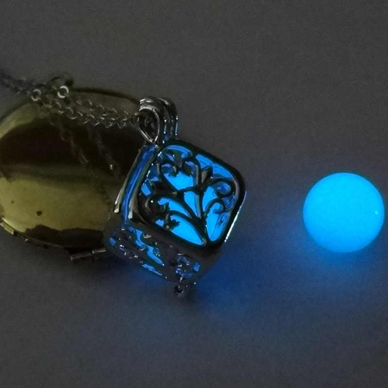 Świetlny kwadratowych drzewo życia naszyjnik Hollow blask w ciemny odcień klatki dant srebrny kolor łańcuchy dla kobiet modna biżuteria na prezent