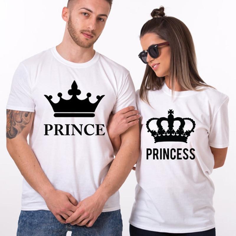 61c198588 EnjoytheSpirit Funny Casual Lover T-shirt Unique Couple Tshirt Tops Cool  Graphic Print Princess Prince Crown Plus Size Tees