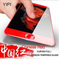 כיסוי מלא 3D YIPI 1 יחידות מזג זכוכית מגן מסך לאייפון 6 6 s בתוספת זכוכית מגן סרטים עבור iphone 6 בתוספת 6 s בתוספת