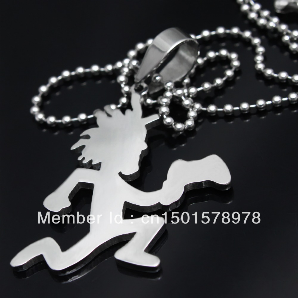 Free ship mens silver 316l stainless steel 2 large hatchetman mens silver 316l stainless steel 2 large hatchetman charms pendant free chain crazy clown icp jewelry in pendants from jewelry accessories on aloadofball Gallery