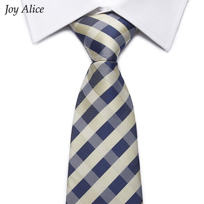 2018 nuevo diseño Venta caliente de negocios Corbata Clásico Gravata Hombres Plaid Pink light blue Formal Wedding Tie Party Corbata 8 CM Ancho