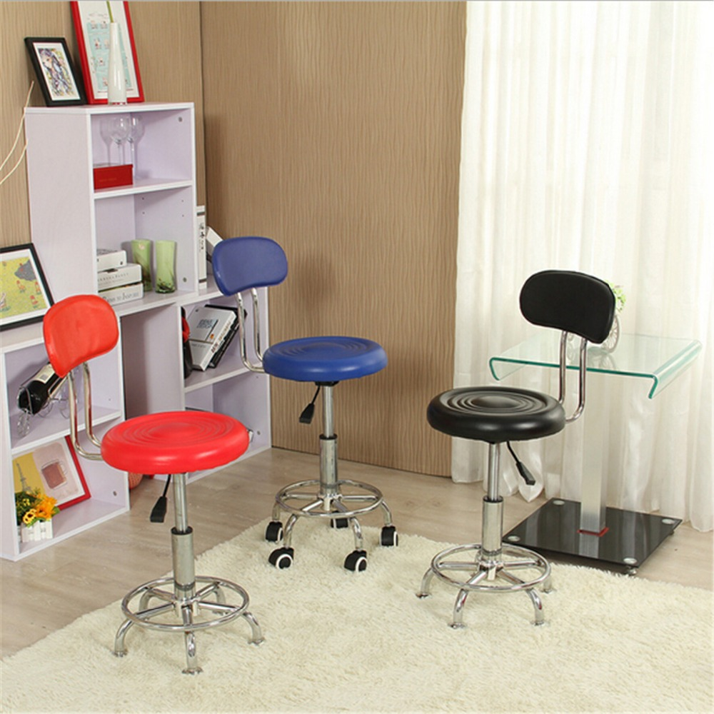 Leather Swivel Bar Stools Chairs Height Adjustable