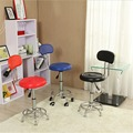Leather Swivel Bar Stools Chairs Height Adjustable Pneumatic Heavy-duty Counter Pub Chair Barstools