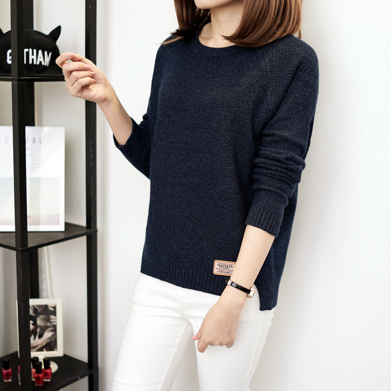 Autumn sweater 19 Winter women fashion sexy o-neck Casual women sweaters and pullover warm Long sleeve Knitted Sweater 5