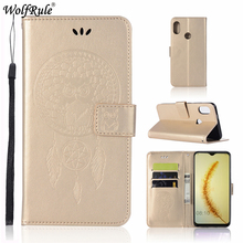 Huawei P Smart 2019 Case 6.21inch Owl Flip Wallet Leather Cover For Huawei P Smart 2019 Luxury Phone Bag Case For Huawei P Smart цена и фото