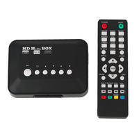 Catuo New Item Multimedia TV Box HDD Media Player Video Players Support HD Drive USB2 0