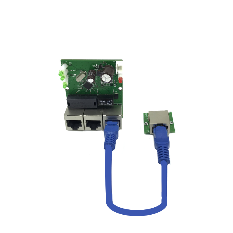 Cheap Sale Oem Factory Direct Mini Fast 10 / 100mbps 3-port Ethernet Network Lan Hub Switch Board Numerous In Variety