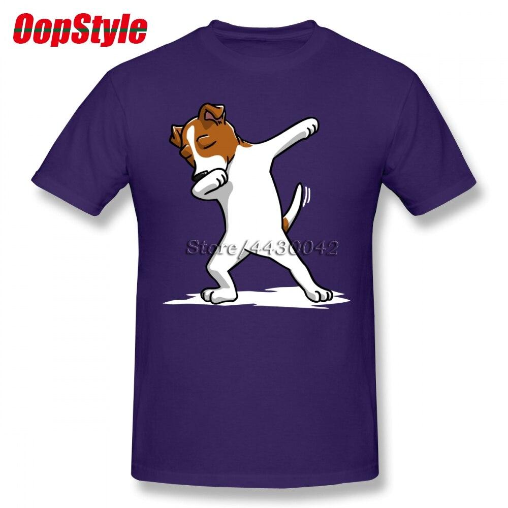 Engraçado Enxugando Jack Russell Terrier Dog T-shirt Para Homens Dropshipping Verão Algodão de Manga Curta Plus Size Personalizado Tee Time 4XL 5XL