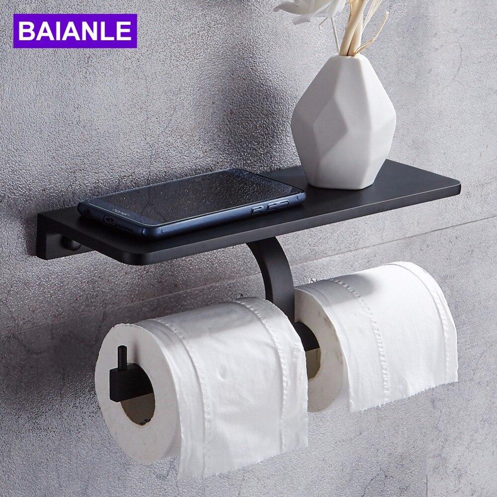 Papier Hygiénique Porte-rouleau de téléphone portable Étagère De Stockage Étagère De Porte Mural Rack