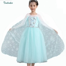 Girls Elsa Anna Sequin Costumes Costume Dress With Snow Pattern Cloak for Princess Party Cosplay Christmas Outfit