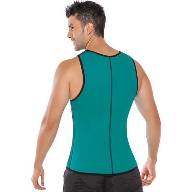 Men Shapers Ultra Sweat Thermal Muscle Shirt Neoprene Belly Slim Sheath Female Corset Abdomen Belt Shapewear Zip Tops Vest S3 4
