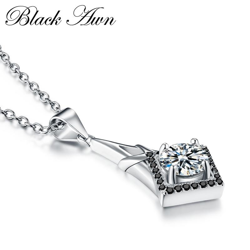 Подлинное 925 пробы Серебряное ожерелье Женские Ювелирные изделия классическое ожерелье s Подвески Bijoux En Argent 925 P071