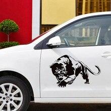CS-1063 #15*23.6cm 30*47cm pantera negra funny car adesivo de vinil decalque de prata/preto para o carro auto adesivos decoração do carro styling