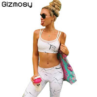 Two Piece Set Chinese Ink Printed Women Tracksuit Tank Tops Pants Sets Ladies Casual Suit Feminino