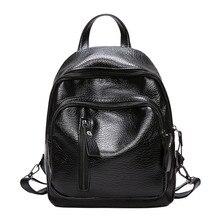 Vintage de moda de cuero de la PU de mochilas para mujeres mochila mujeres de mochila de la Escuela de la Universidad niñas femeninas mochila