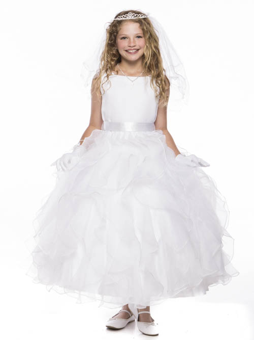 ФОТО 2016 Free Shipping  Flower Girls Dresses For Wedding Gowns White Girl Birthday Party Dress Fashion Girls Dress