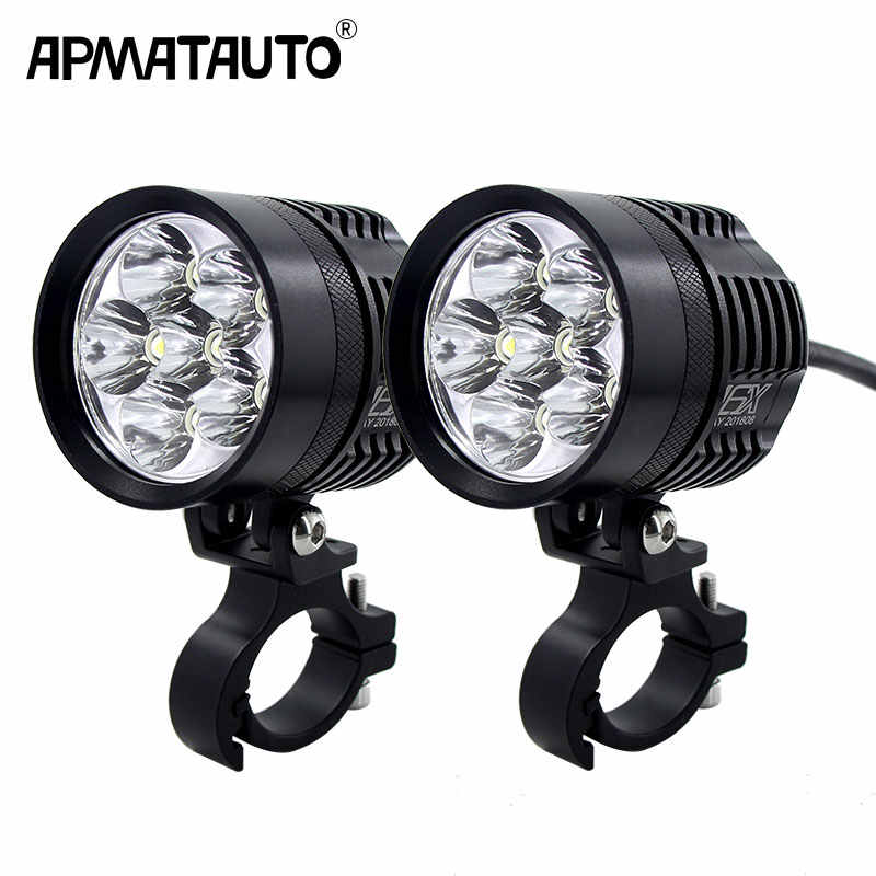2x 12000lm 6000K Led Motorcycle bike Headlight bulb Waterproof Driving Spot Fog Lights External MOTO DRL Accessories bulb 12V