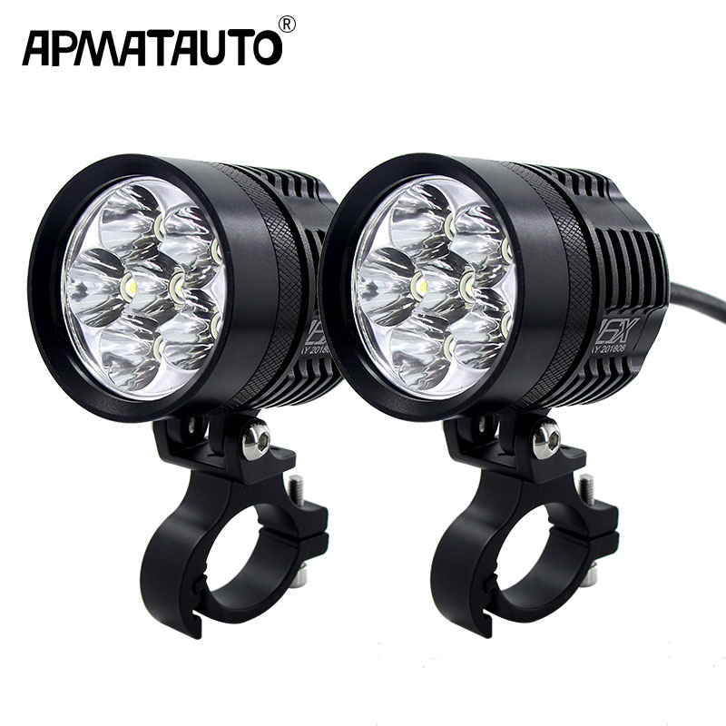 2x 12000lm 6000K Led Motorcycle Bike Headlight Bulb Waterproof Driving Spot Fog Lights External MOTO DRL Accessories Bulb 12V